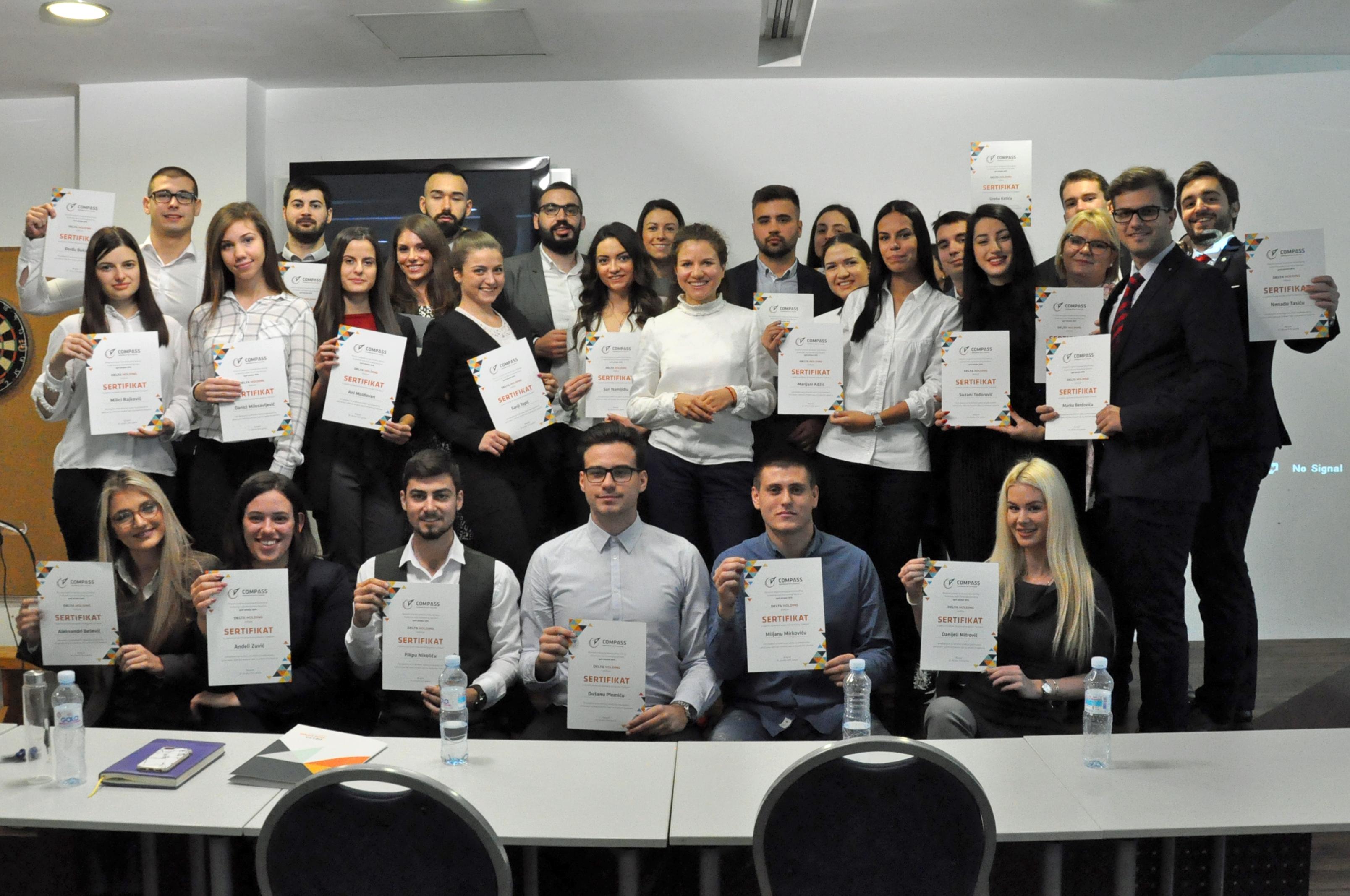 Dodeljeni sertifikati učesnicima obrazovnog programa Compass